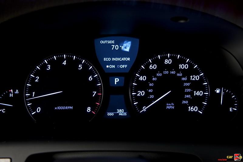 LS 460 instrument gauges