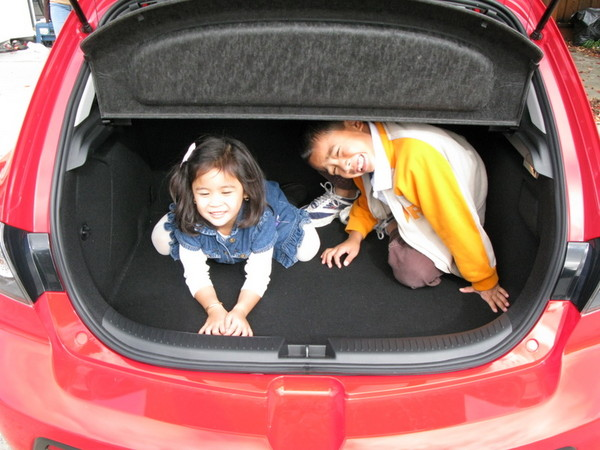 Mazdaspeed 3 has ample trunk space