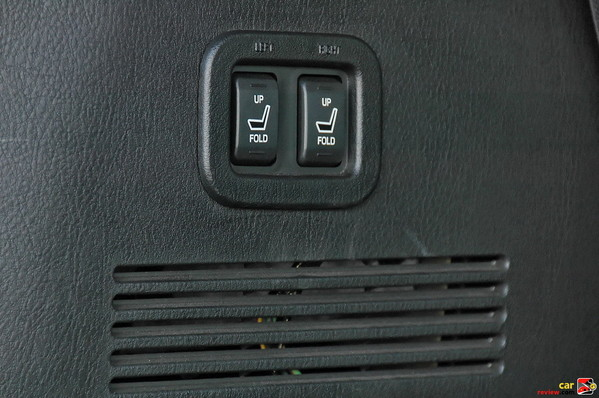 power switches to fold rear seats up/down