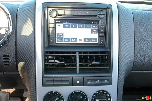 Navigation system and audio controls