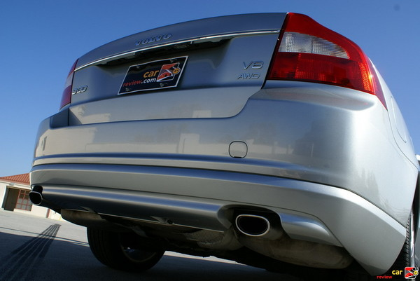 visible dual exhaust tips