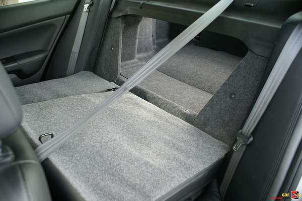 60/40 split folding rear seats