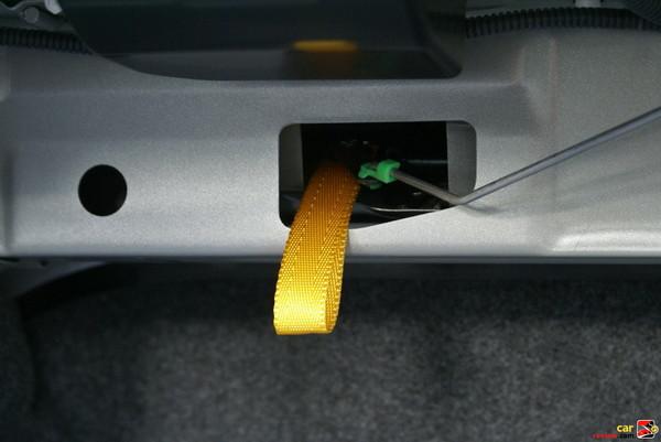 rear seat release handle
