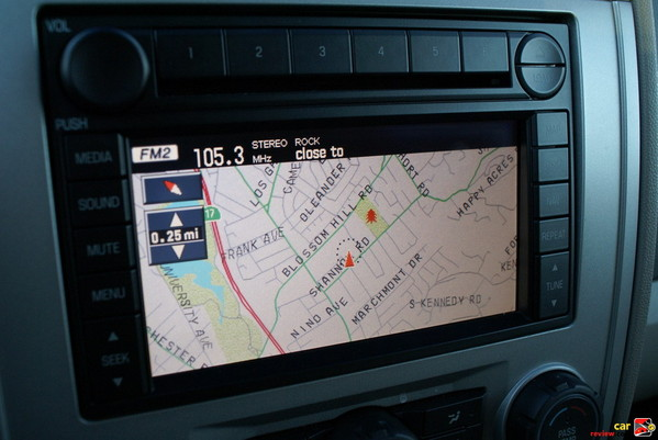 "Navigation System features 6.5"" color LCD screen"