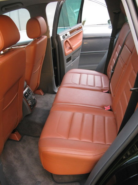 VW Touareg rear seating