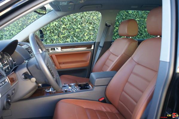 12-way power adjustable leather seats