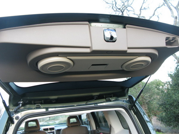 Jeep Patriot rear hatch with speakers