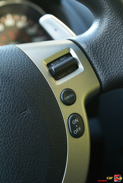 steering wheel mounted cruise controls