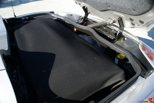 cloth convertible top with glass rear window