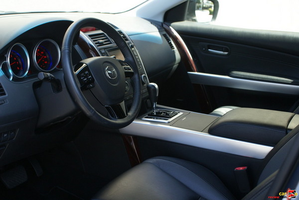 silver and wood pattern interior trim