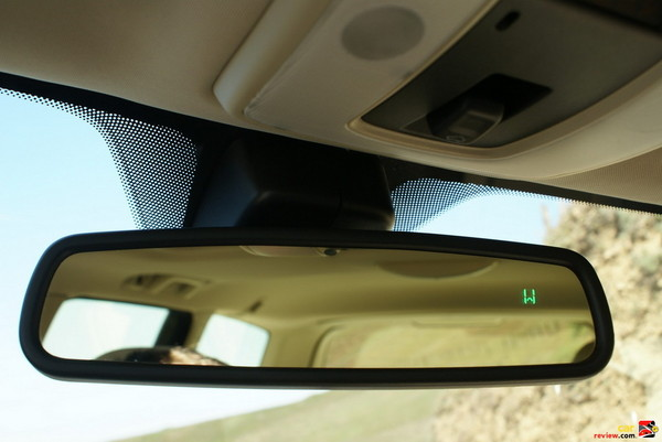 Automatically Dimmed Rear-view Mirror with Compass