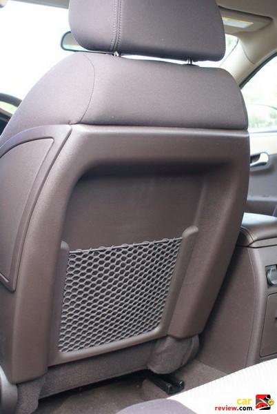 Front Seatback Storage Pockets