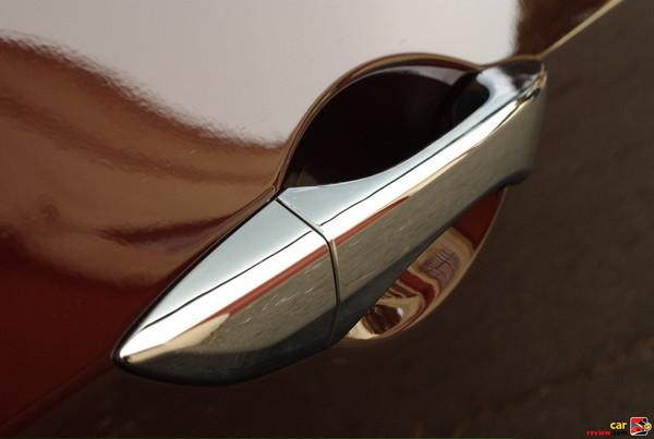 Chrome door handle trim