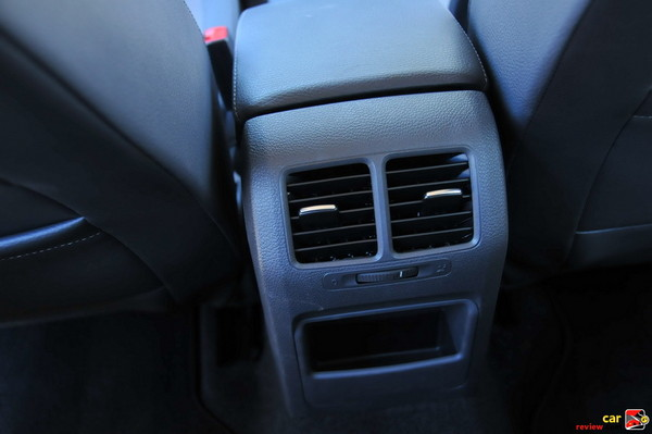 Rear Passenger Ventilation in Center Console