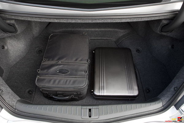 13 cubic feet of cargo space in the trunk