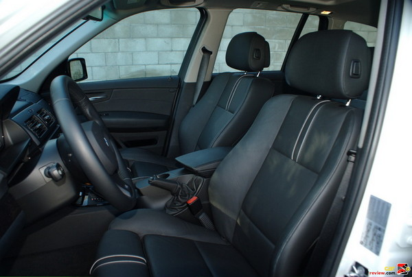 Black Nevada Leather Front Seats