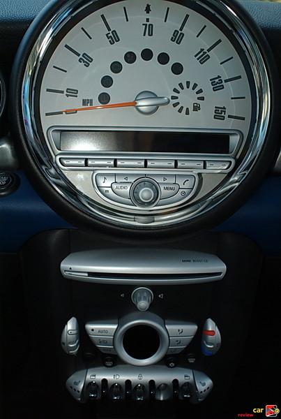center mounted speedometer