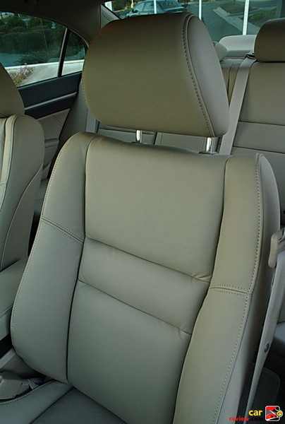 front leather seat
