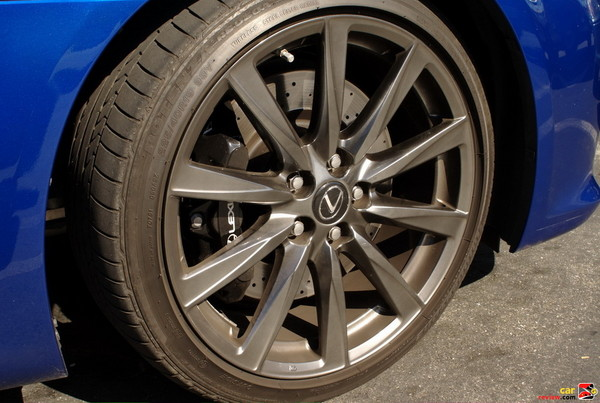Lexus IS-F 19 inch anthracite wheels