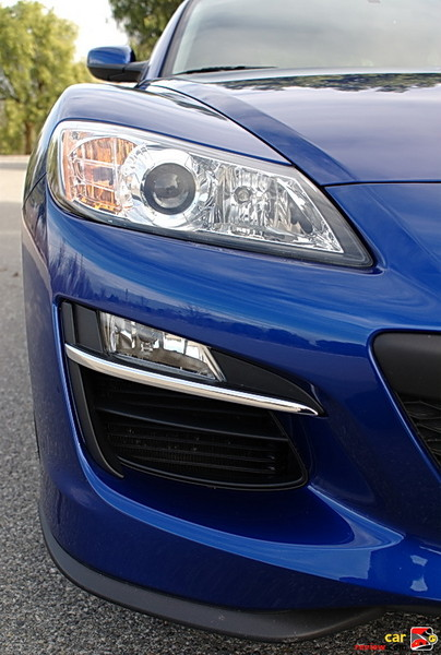 Fog lights and intake cooling duct