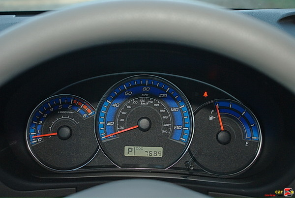 Analog speedometer, tachometer and fuel gauges
