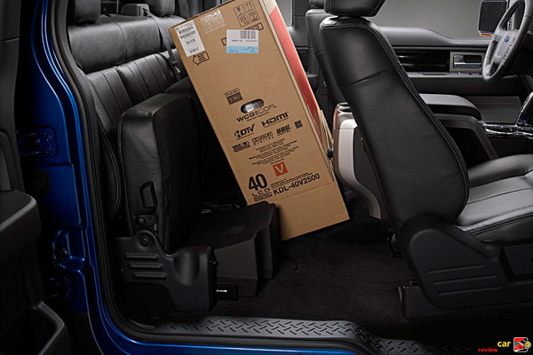 Flat load floor allows 57 cu feet of load space behind front seat