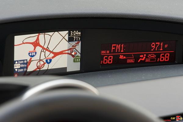 2010 MAZDA3 hi-res (but tiny) navigation screen
