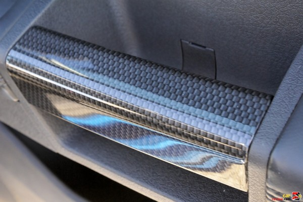 carbon fiber-style interior trim