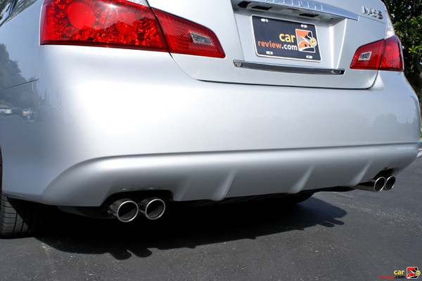 Dual exhaust with quad chrome outlets