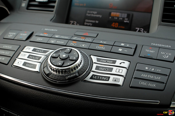 Vehicle Information System with Infiniti Controller