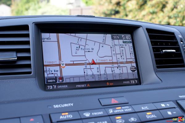 Infiniti Hard Drive Navigation System