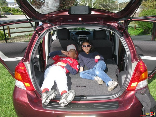 Yaris rear cargo area