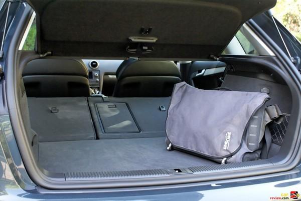 Audi A3 rear cargo area