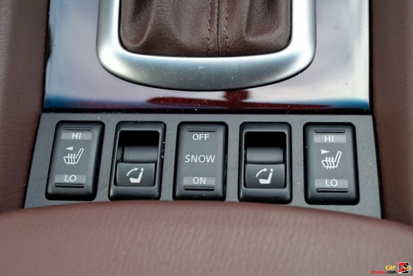 Switches for seat heaters, traction control