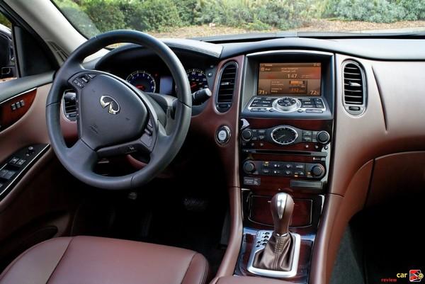 Infiniti EX35 driver's cockpit