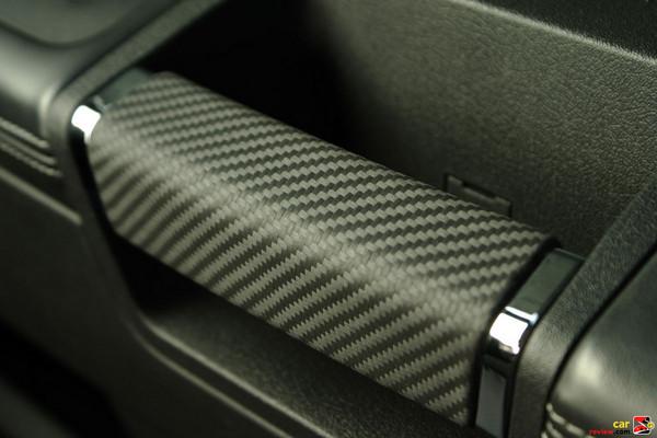 Carbon fiber door handles