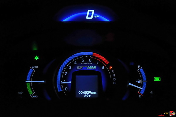 2010 Honda Insight digital-analog display