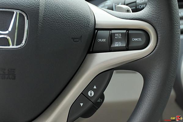 Illuminated Steering Wheel-Mounted Cruise Controls