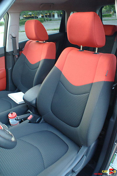 Red + black interior trim w/red sport cloth seats