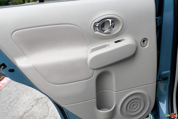 Chrome-plated inside door handles