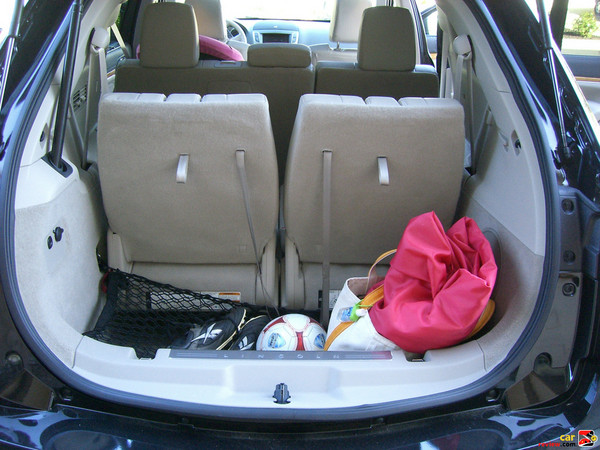 18 cubic feet of cargo space behind 3rd row seats