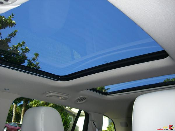 Dual panel panoramic vista sunroof