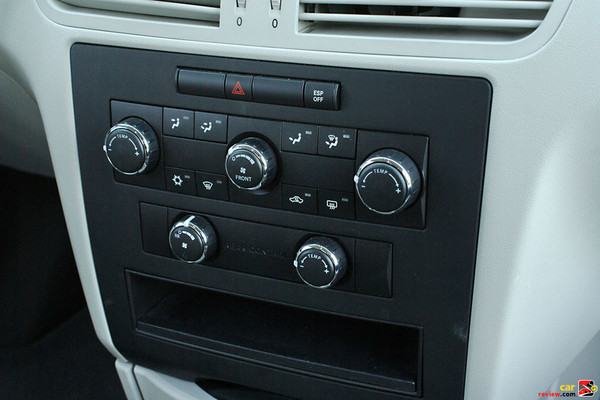 Front and rear climate controls