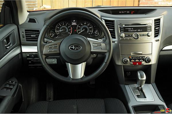 2010 Subaru Legacy 2.5i driver's cockpit