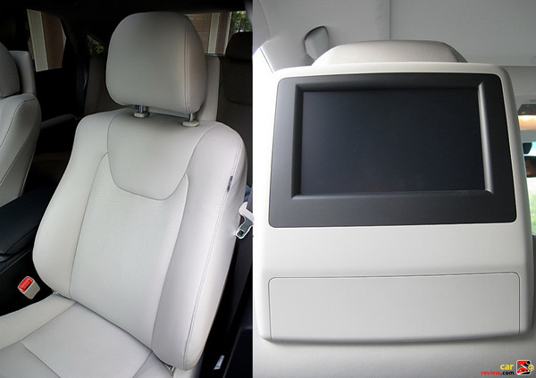Dual-screen DVD rear seat entertainment system