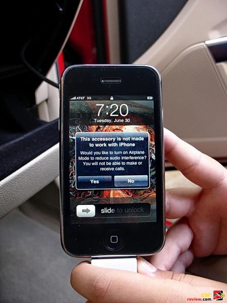 Firmware update needed to recognize iPhones