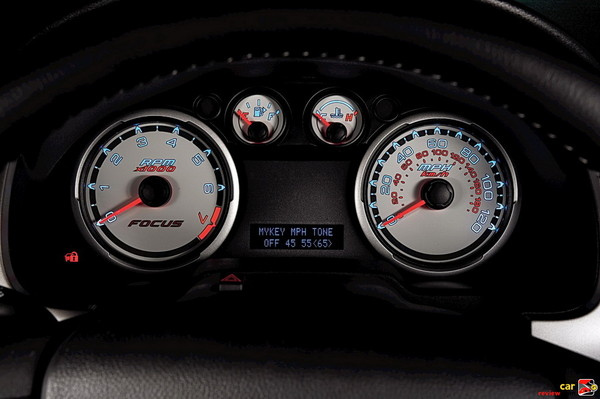 Instrument cluster with bright rings