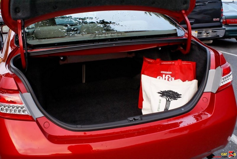 Toyota Camry has 15 cubic feet of trunk space