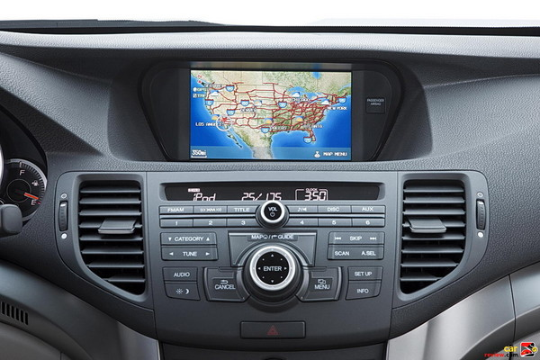 Audio, climate and navigation controls extend forward