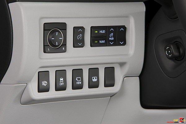 Heads-up display and front camera buttons